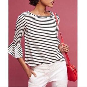 DELETTA celina striped bell sleeve top S